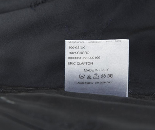 Eric Clapton autographed waistcoat