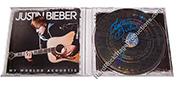 Justin Bieber Autographed CD