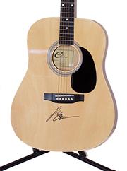 Luke Bryan Autographed Guitar