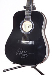Neil Young Autographed Guitar