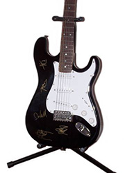 Velvet Revolver Autographed Guitar