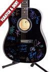 Country Artists Autographed Guitar