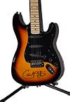 Carlos Santana Autographed Guitar