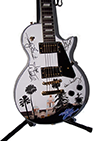 The Eagles Autographed Hotel California Airbrushed Guitar