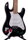 Green Day Autographed Guitar