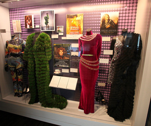 whitney houston grammy museum dress